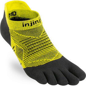 Injinji Run Lightweight No Show Socks Men, limeade